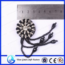 Specializing in the production of high-grade crystal shoe flower handmade beaded black shoes accessories 2015 new flowers