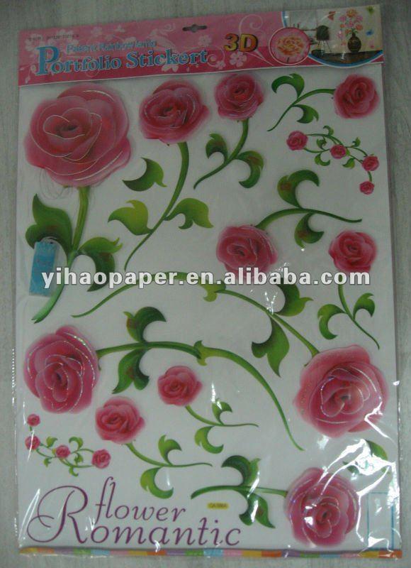 Azulejos Baño Flores:Cuarto de baño de flores azulejo de la pared pegatinas y calcomanías