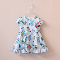 Wholesale manufacturers summer children's clothing girls dress children dress children dress printed letters