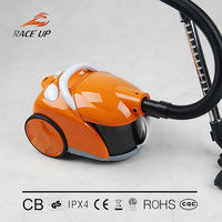 High performance speed control bagged vacuum cleaner
