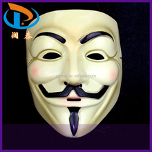 Wholesale 20*16mm Yellow PVC Plastic Carnival V Vendetta Halloween Mask