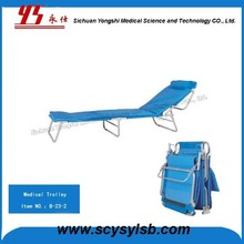 Portable Metal Frame Folding Single Recliner Chair Bed on Sale