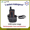 1200Meter rechargeable and waterproof Electric dog collar china with CE