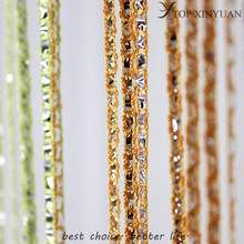 new style Knitted string curtain/silver line string wall curtain for decoration/silver yarn rope door/Window string curtain