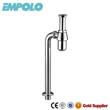 EMPOLO Traditional Brass Bottle Trap For Basin, S-trap Way Connected To Drainer BT7006