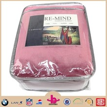 Competitive price high quality 100% polyester super soft flannel blanket with embroidery logo