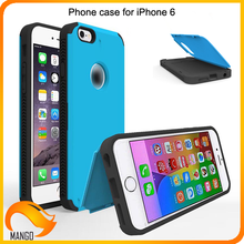 High quality wholesale cell phone accessory Green color PC Plus TPU phone case for iphone 6