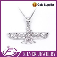 Special style AAA cz stone sterling silver fashion animal pendant