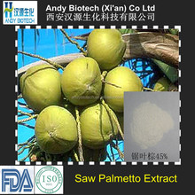 Best Quality Fatty acids 25% Saw Palmetto Fruit Extract