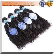 High quality 100% human hair combodian kinky curly hair weaves