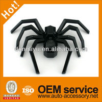 Glossy black spider car badges emblems