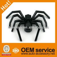 Glossy black spider car badges emblems