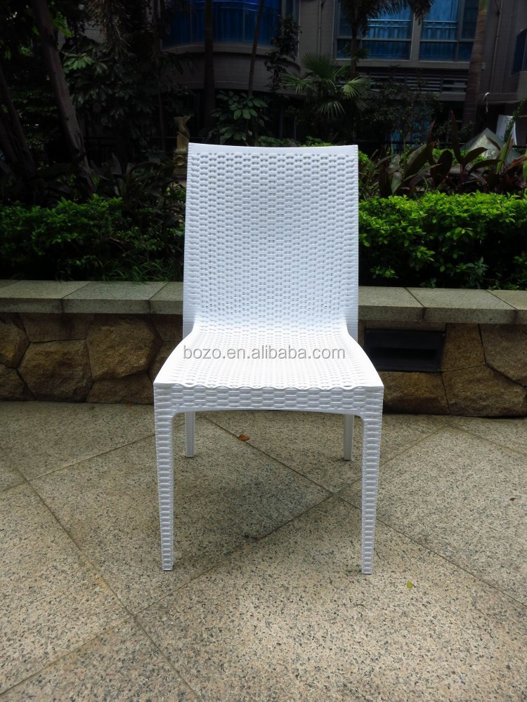 garden chair patio white plastic resin armless chair buy