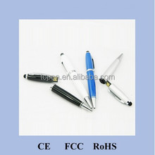 H-369-1 metal pen flash drive with screen touch function, metal USB stylus pen