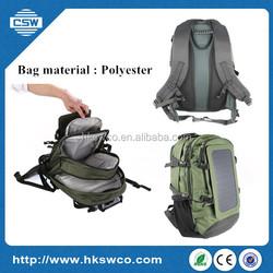 Sunpower solar bag solar backpack for laptop /cellphone/power bank