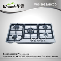 build-in 5 burner gas stove stainless steel gas hob