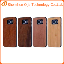Olja 2015 hot sell cell phone pc wood case for samsung s6 edge