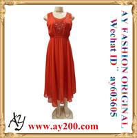 Fashion Designer Long Ladies Skirts Short Sleeveless Dresses