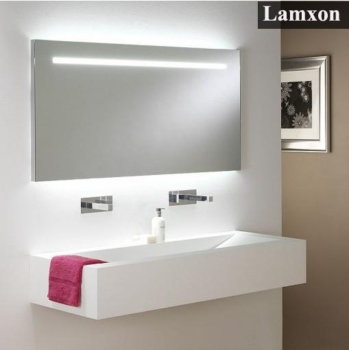 Design moderno LED espelho do banheiro para hotéis