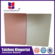 Alucoworld excellent impact assistance brushed interior wall paneling
