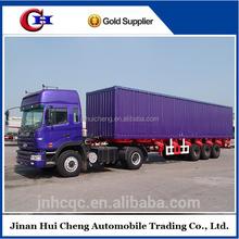 Tri-axle enclosed cargo box semi trailer for sale , box or van truck semi trailer