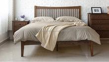 De moda del precio bajo de hierro forjado y cama de madera maciza