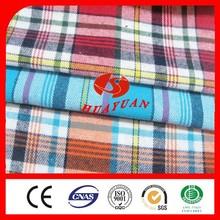 100% algodão cardado 21s flanela fios tingidos tecido para lençol