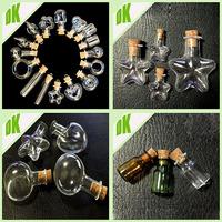 Wholesale custom perfume empty glass bottle, with cork 15ml heart shaped nail polish glass bottle