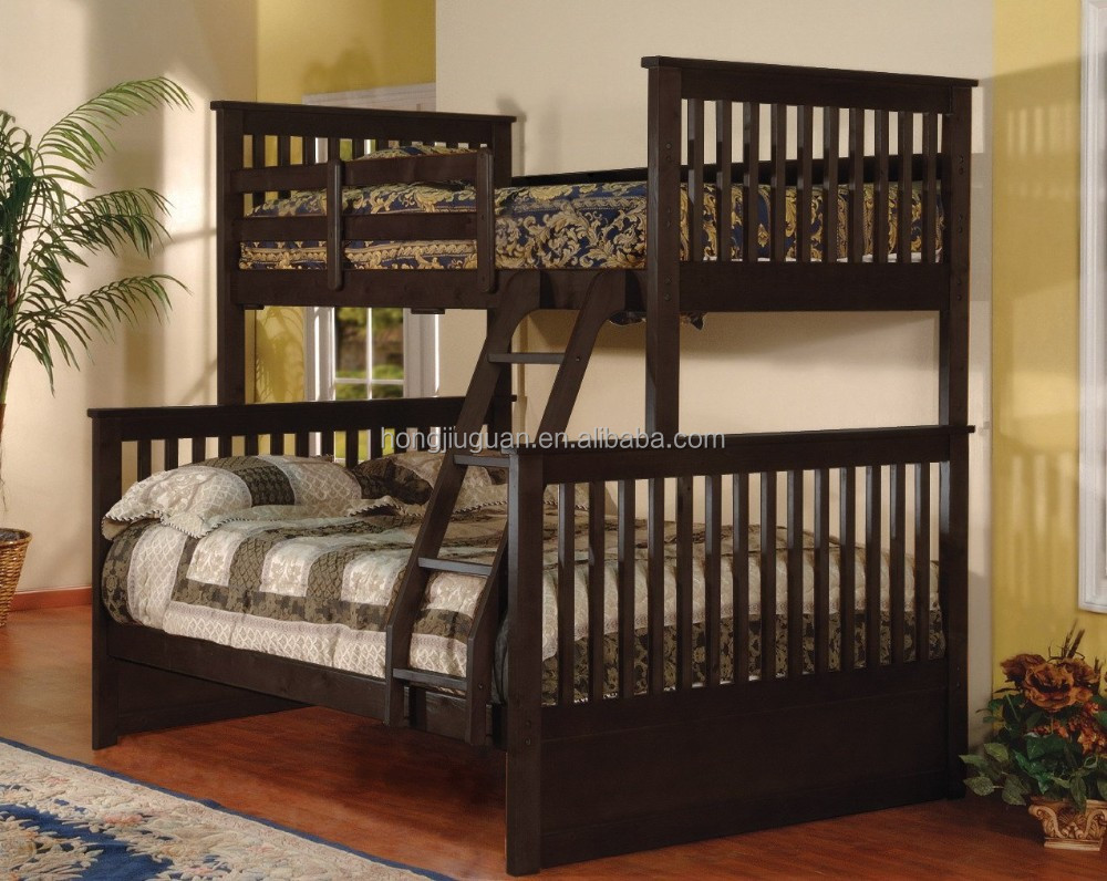 Solid pine wood twin double bunk bed twin bunk bed for - Literas para adultos ...