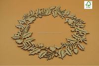 2015 unique christmas decorations, laser cutting wood wreaths crafts
