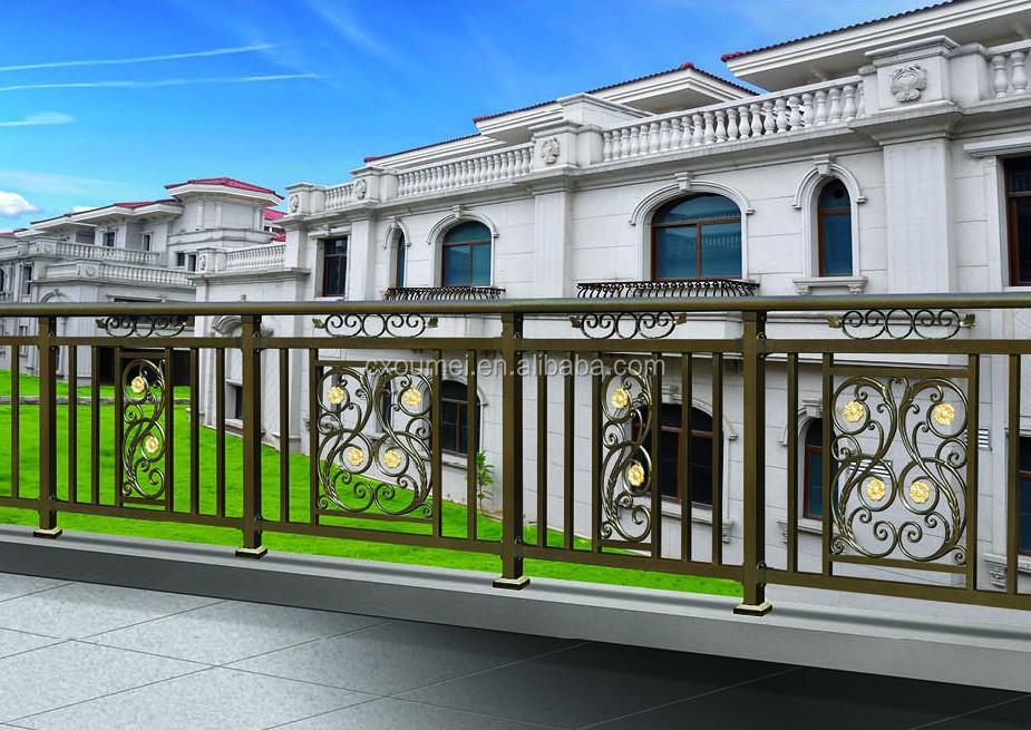 Luxury Non Welded Galvanized Aluminum Alloy Balcony