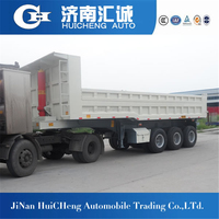 Direct factory 40t 50t 60t tipping semi trailer/tipping trailer for sand,earth,wood chips transport