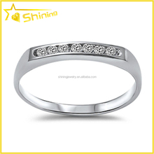 ladies fashion ring design for party shining cz inlay finger ring jewelry cheap silver ring