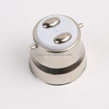 B22 bayonet solder free oval pin lamp cap factory
