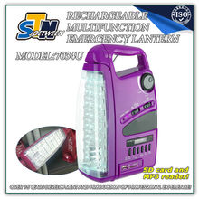 Brand name led light LED 12v camping light with cassette player