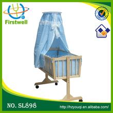 2015 Hottest wooden baby playpen baby kid swing bed