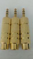 gold plated 3.5 STEREO PLUG TO 6.3 PLUG .AV SOCKET