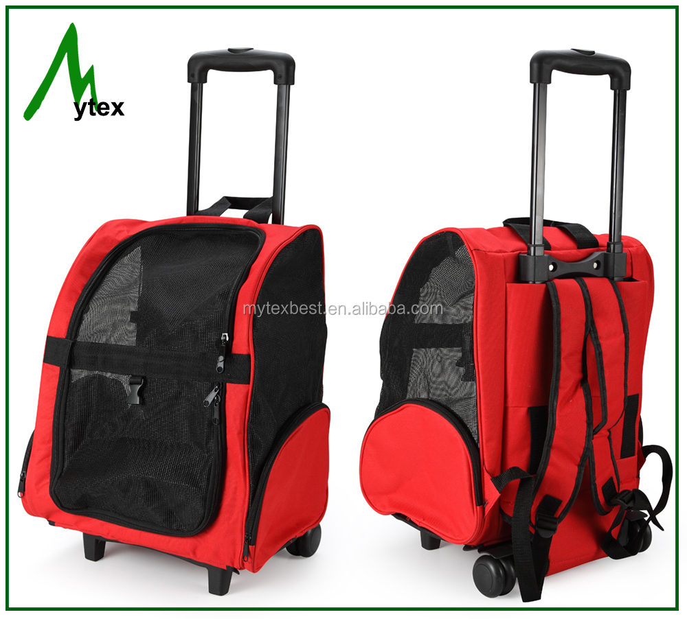 Backpack dog travel Pet Carrier with trolley