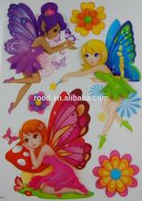 Room Decor autoadhesivo papel de la pared, PVC niños de engomadas decorativas de la pared
