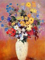 oil painting flowers in vases