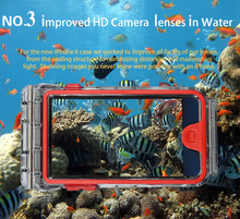 Underwater HD Interchangeable camera lens Good leakproofness waterproof mobile phone case for iphone 6
