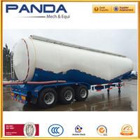 Panda 3 Axles 2 Compartments Cement Tanker Semi Trailer, 55m3 Cement Tanker Semi Trailer, 60m3 Bulk Powder Tank Truck Trailer