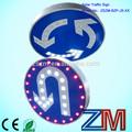 aluminio solar intermitente led carretera rama ronda de señalización de la carretera