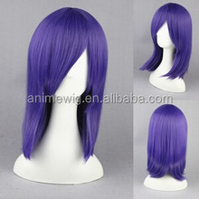 High Quality 45cm Short Straight Touhou Project-Kumoi Ichirin Light Purple Synthetic Anime Wig Cosplay Hair Wig Party Wig