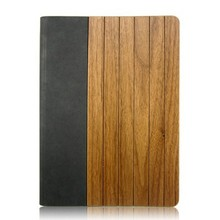 Hot Selling ultra thin leather Wood Wooden Case for iPad, for iPad Bamboo Wooden Case Paypal Accepted