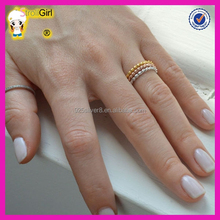Custom twine gold platinum rose gold palting wholesale high quality 925 solid silver ring