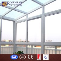 ROGENILAN customized double insulated glass soundproof design aluminium frame sex glass door shower room
