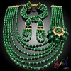 2015 crystal beads women bridal necklace/earring/bracelet sets handmade chunky bead necklace handmade jewellery wholesale Dubai