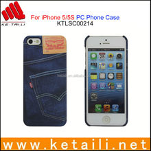 Made in China Popular Brand Jeans Mobile Phone Cover for iPhone 5S