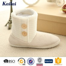 China white Suede fabric cashmere snow boots for women